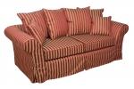 Sofa w bordowo złote pasy rozkładana Federica 210 cm/FS