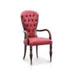 Ekskluzywne krzesło zdobiona rama Adele