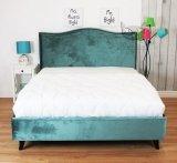 Zielone dwuosobowe łóżko Cezar 180x200