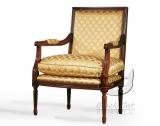 Drewniany złoty fotel Luigi
