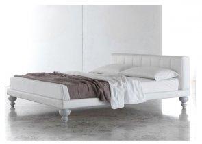 Designerskie Stylowe łóżko Nogi Toczone Patty 140x200 Cm
