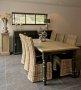 Stół czarny z dębowym blatem duży 250x100 do salonu  Sevilla