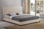 Milena łóżko tapicerowane na niskich nóżkach