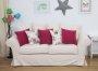 Sofa do salonu w jasnej tkaninie  Federica 210 cm
