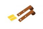 Metalowy wieszak do mini rolet, długi - jasny brąz