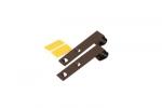 Metalowy wieszak do mini rolet, długi - ciemny brąz