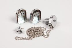 Uchwyt i mechanizm koralikowy Srebrny do rolet klasycznych fi25mm
