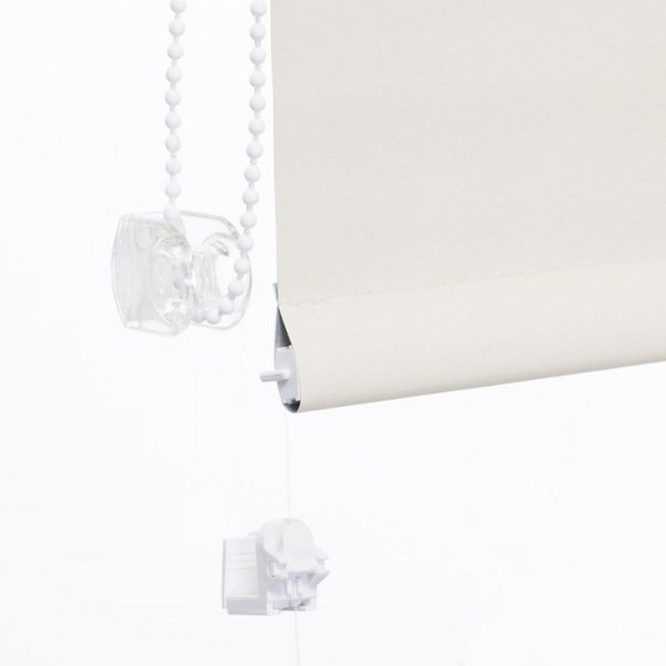 Mini roleta z żyłką Thermo - Naturalny (Silver)