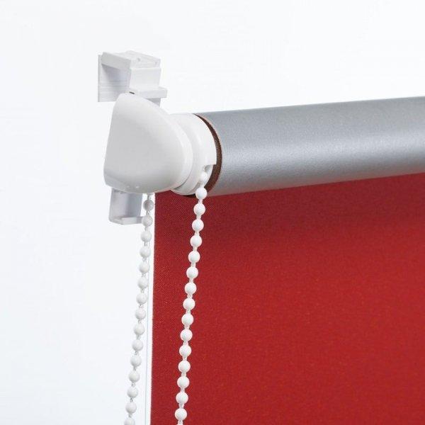 Mini roleta z żyłką Thermo - Czerwony (Silver)