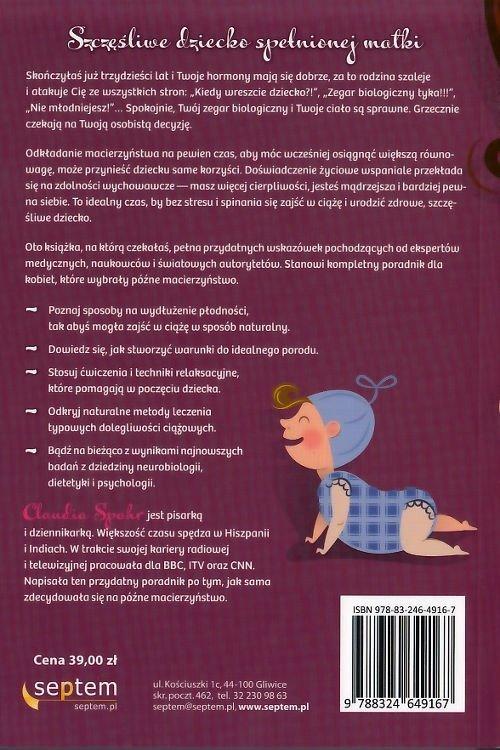 Czas na dziecko Poradnik dla dojrzałych matek