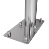 WC - Klappgriff mit Toilettenpapierhalter freistehend für barrierefreies Bad aus rostfreiem Edelstahl 85 cm ⌀ 32/50 mm