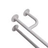 Stützgriff für barrierefreies Bad rechts montierbar 60 cm weiß ⌀ 32 mm