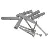 Winkelgriff für barrierefreies Bad 70/50cm links montiert. aus rostfreiem Edelstahl mit Abdeckrosetten