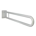 Klappgriff am WC oder Waschbecken für barrierefreies Bad weiß 60 cm ⌀ 25 mm
