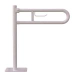 WC Klappgriff für barrierefreies Bad freistehend mit Toilettenpapierhalter weiß 85 cm ⌀ 32 mm