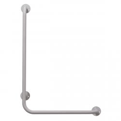 Winkelgriff 100/40 cm für barrierefreies Bad links montierbar weiß ⌀ 25 mm