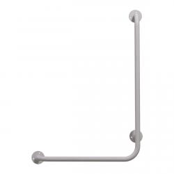 Winkelgriff 60/40 cm für barrierefreies Bad rechts montierbar weiß ⌀ 25 mm