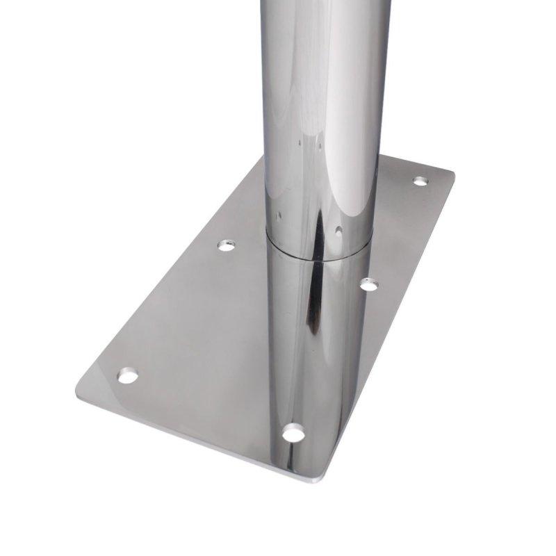 WC - Klappgriff mit Toilettenpapierhalter freistehend für barrierefreies Bad aus rostfreiem Edelstahl 75 cm ⌀ 32/50 mm