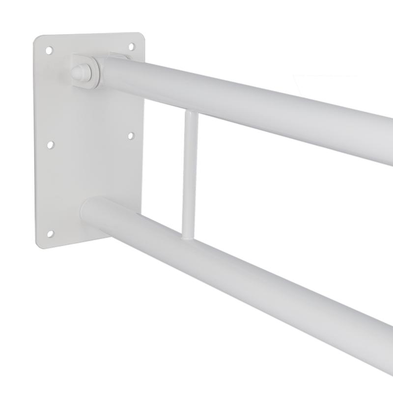 WC Klappgriff für barrierefreies Bad mit Toilettenpapierhalter weiß 60 cm ⌀ 32 m