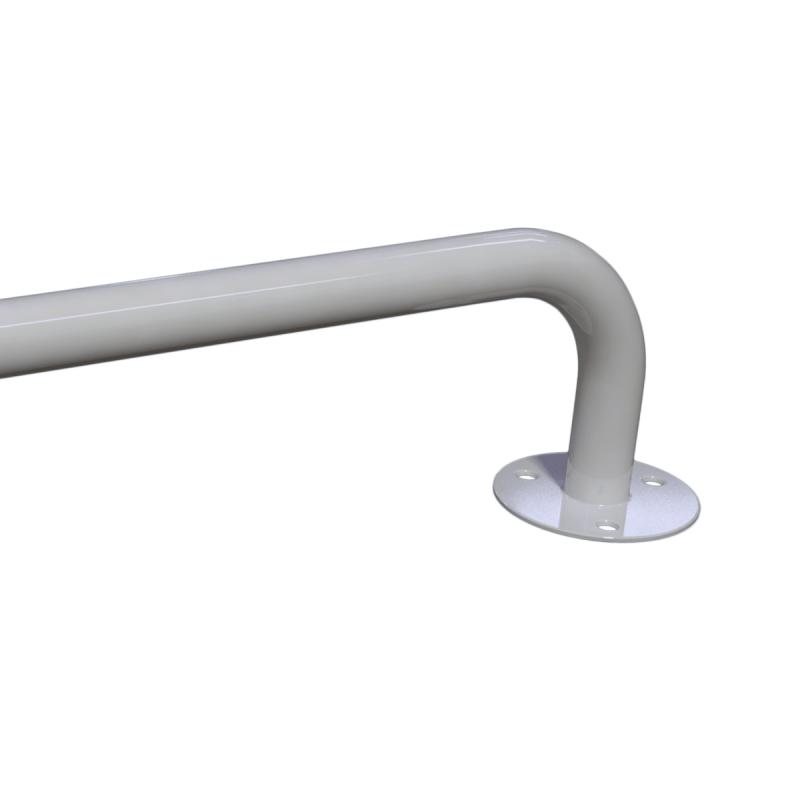 Stumpfwinkelgriff 60/60 cm für barrierefreies Bad links/rechts montierbar weiß ⌀ 25 mm