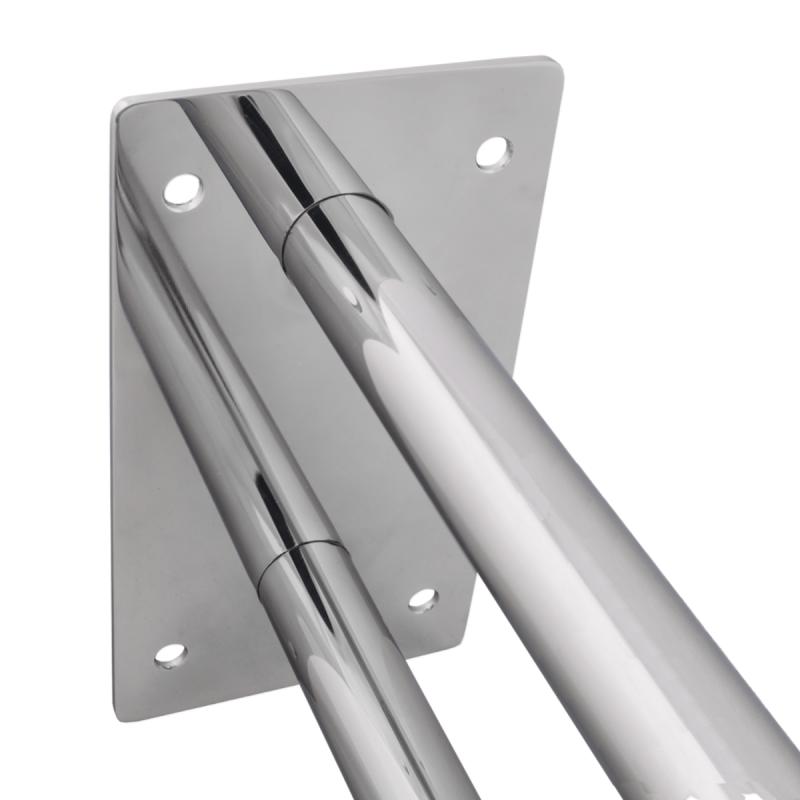 Stützgriff für barrierefreies Bad 70 cm aus rostfreiem Edelstahl ⌀ 25 mm