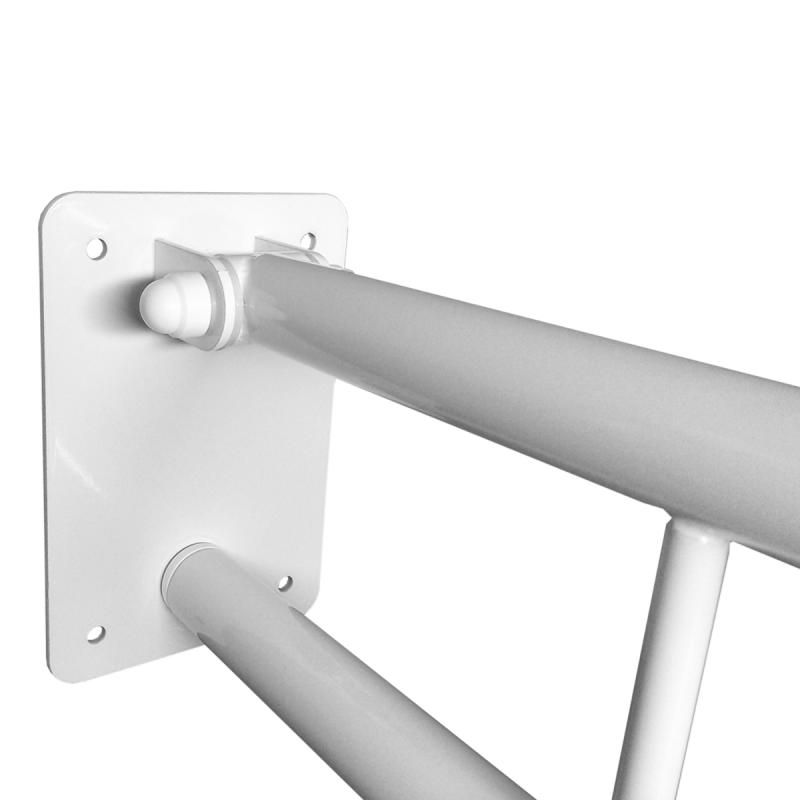 Klappgriff am WC oder Waschbecken für barrierefreies Bad weiß 50 cm ⌀ 25 mm