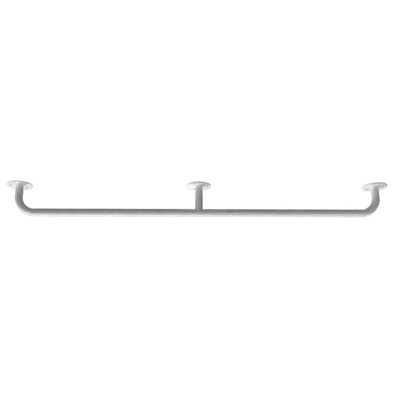 Handlauf für barrierefreies Bad 140 cm weiß ⌀ 25 mm