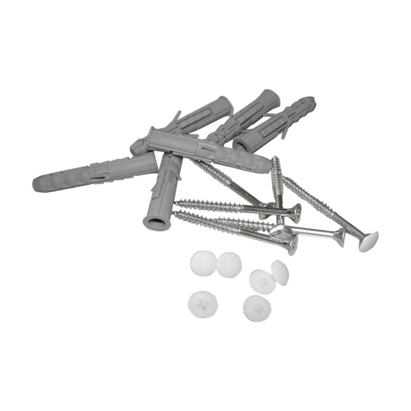 Stützgriff für barrierefreies Bad links montierbar 50 cm weiß ⌀ 32 mm