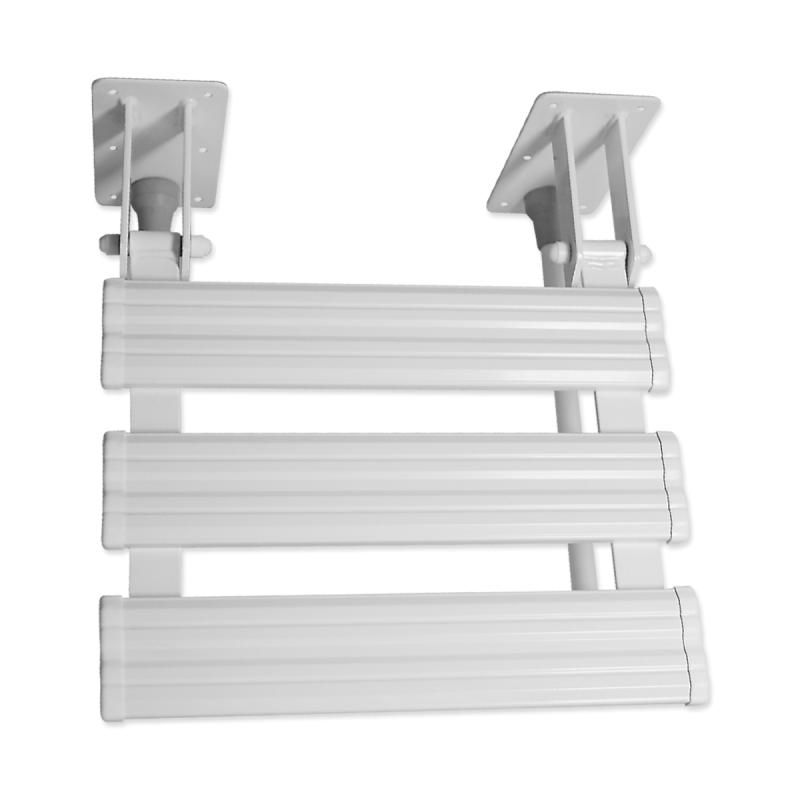 Duschklappsitz mit Wandstütze für barrierefreies Bad