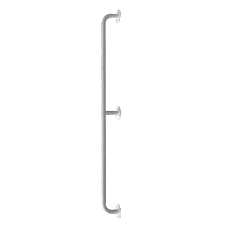 Handlauf für barrierefreies Bad 160 cm weiß ⌀ 25 mm