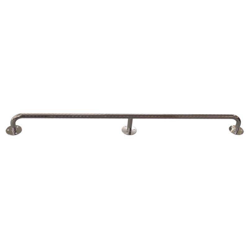 Gerader Handlauf für barrierefreies Bad 190 cm aus rostfreiem Edelstahl ⌀ 25 mm