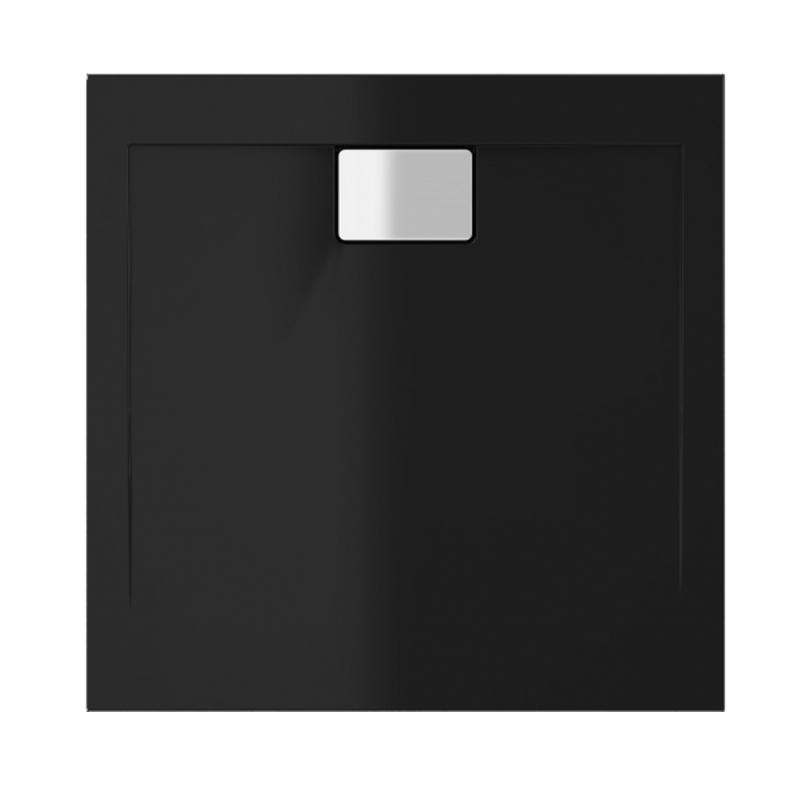 Schwarze Duschwanne für barrierefreies Bad 90 x 90 cm