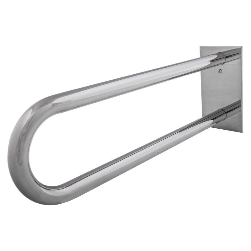 Stützgriff für barrierefreies Bad aus rostfreiem Edelstahl 60 cm ⌀ 32 mit Abdeckplatten
