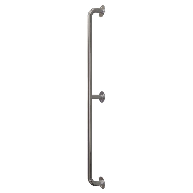 Handlauf für barrierefreies Bad 130 cm aus rostfreiem Edelstahl ⌀ 32 mm