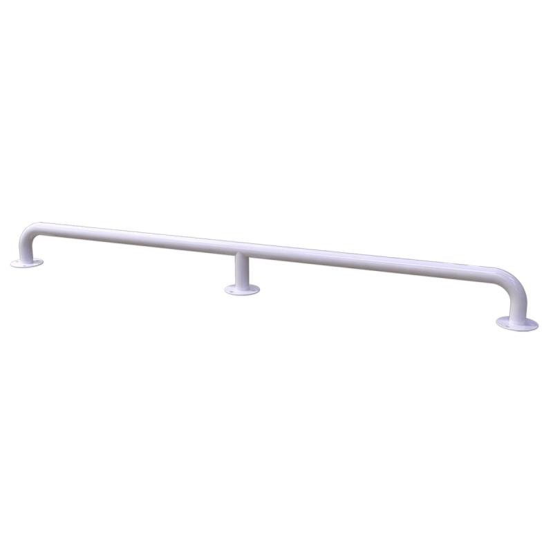 Handlauf für barrierefreies Bad 160 cm weiß ⌀ 32 mm