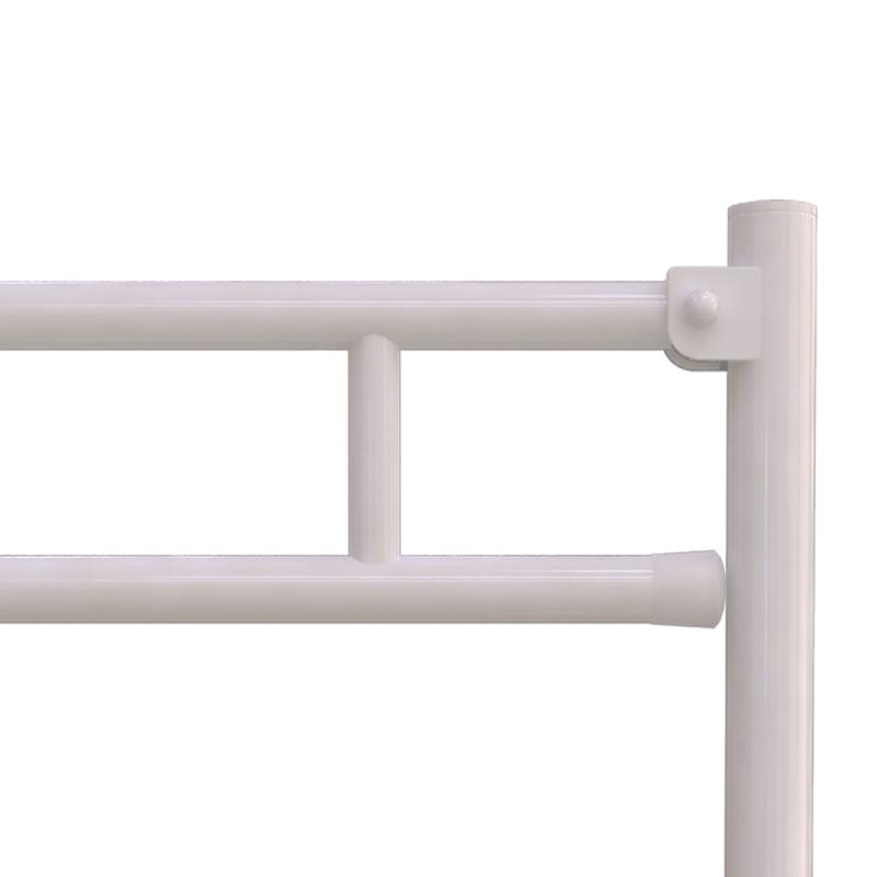 WC-Klappgriff für barrierefreies Bad freistehend weiß 85 cm ⌀ 32 mm