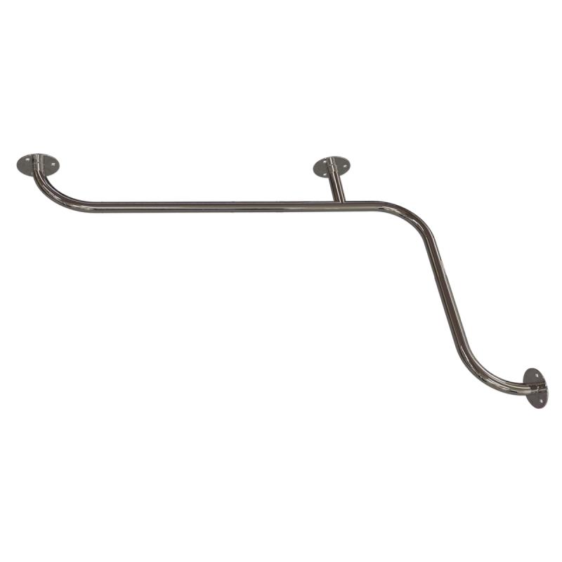 Handlauf für Badewanne für barrierefreies Bad 100/70 cm aus rostfreiem Edelstahl ⌀ 25 mm