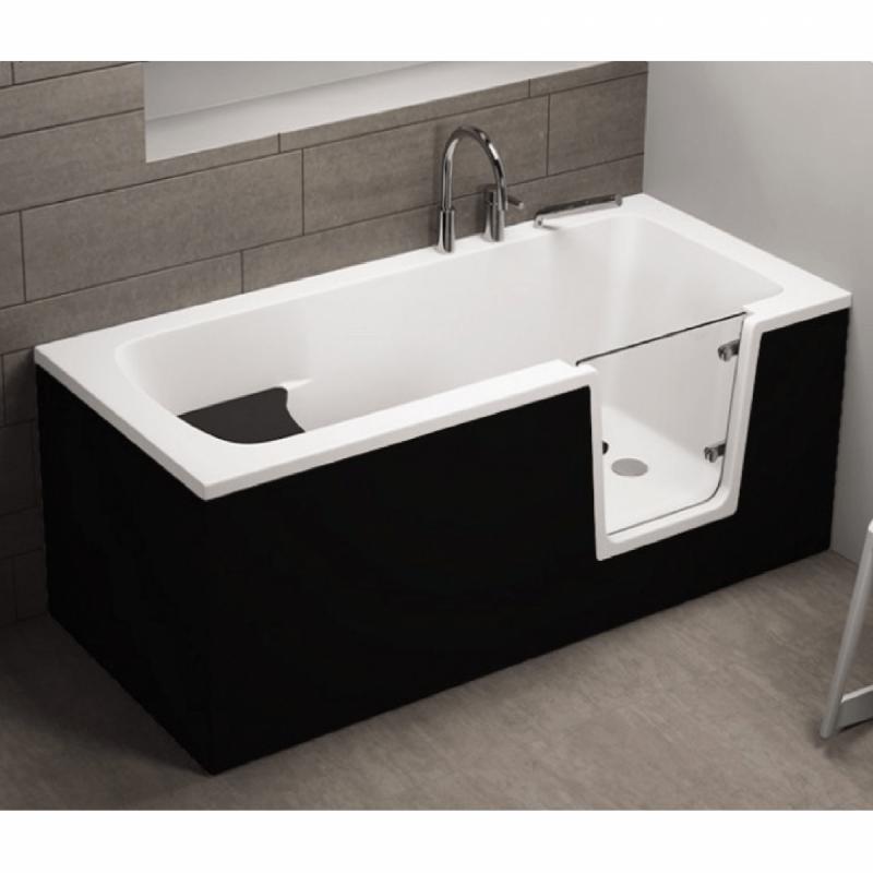 Frontpaneel für AVO Badewanne 170 cm schwarz