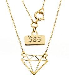 Złoty naszyjnik 585 celebrytka