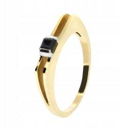 Złoty pierścionek 585 z szafirem