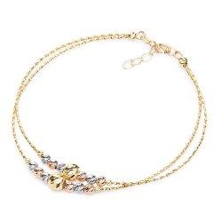 Złota bransoleta 585 trzy kolory