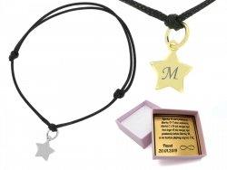 Dwie dowolne bransoletki gwiazdki srebrne lub złocone + GRAWER
