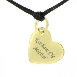 Bransoletka złocona serce 925 serduszko