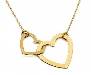 Złoty naszyjnik 585 celebrytka serca