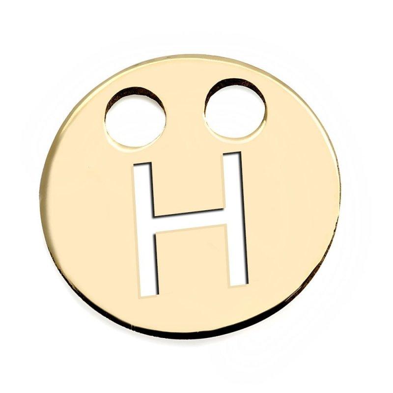 Złota zawieszka 585 kółeczko z literką H do celebrytki