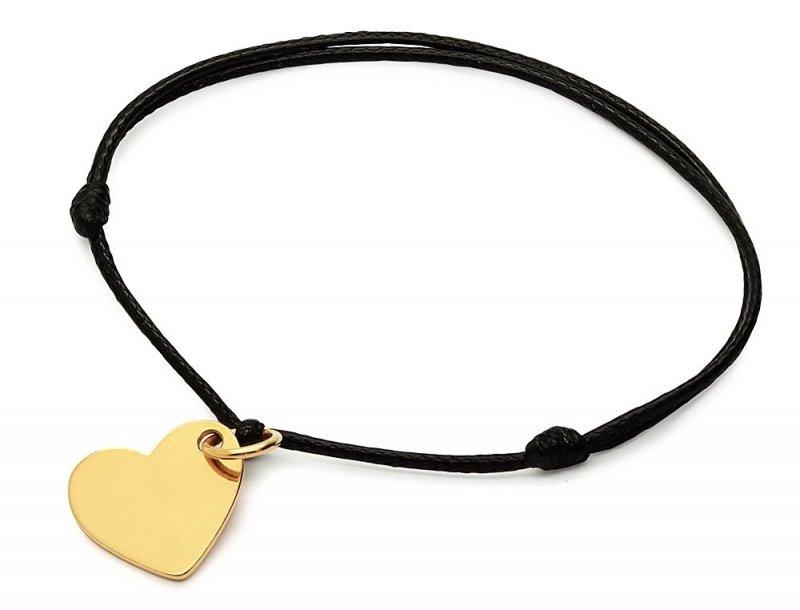 Bransoletka złocona serce z grawerunkiem dedykacja etui
