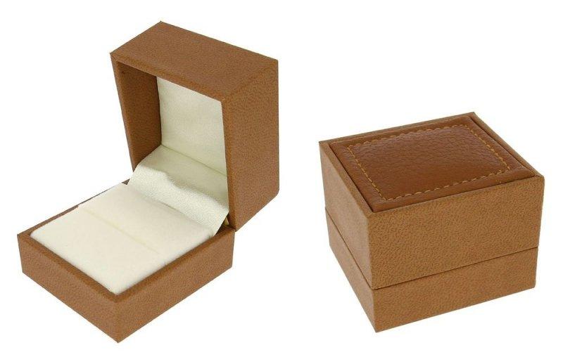 Pierścionek zaręczynowy z białego złota 585 brylant 0,08ct