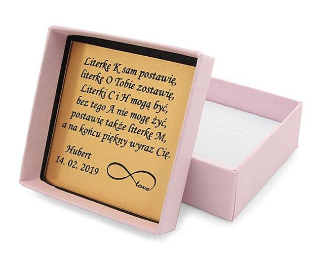 Srebrny napis Monika- naszyjnik z imieniem , srebro 925