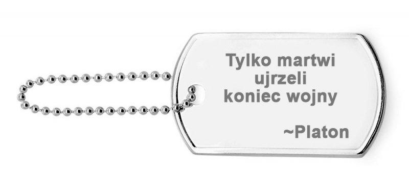 NIEŚMIERTELNIK SREBRNY 925 łańcuszek PEŁNY pancerka Grawer blaszka