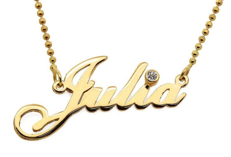 Naszyjnik imię Julia , naszyjnik z imieniem